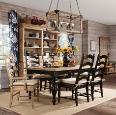 Homecoming Seven Piece Dining Table and Chair Set by Kincaid Furniture