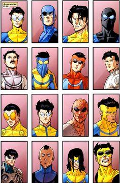 Art by Ryan Ottley. Story Characters, Iconic Characters, Comic Books Art, Comic Art, Invincible Comic, Hero World, Best Superhero, Batman The Animated Series, Image Comics