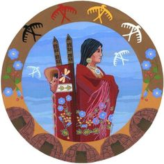 Herbalism's Sacred Dimension Interview with Plant Healer Teacher: TIFFANY FREEMAN in conversation with Jesse Wolf Hardin Dr. Tiffany Freeman blends her teachings and traditional values as a person … Native American Wisdom, Native American Artists, American Indians, American Women, Claudia Tremblay, Medicine Wheel, Native Art, Mother And Child, Blue Flowers