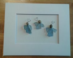 Your place to buy and sell all things handmade Sea Crafts, Sea Glass Crafts, Sea Glass Art, Christmas Tag, Christmas Birthday, Christmas Ideas, Glass Art Pictures, Rock And Pebbles, Handmade Tags