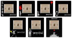 Banksy, Light Switch Surround, Finger Plate & FREE UK POSTAGE