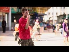 Dub FX, the brilliant performer using beatbox and loops on the street in Bristol, UK.
