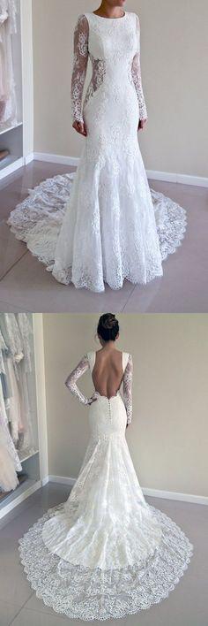 2017 wedding dresses,gorgeous wedding dresses with court train,backless wedding dresses,lace wedding dresses,women's fashion