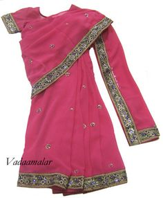 NEW Kids Ready made wear Saree Indian Girls Childrens Sarees Costume All size Childrens Bridesmaid Dresses, Kids Suits, Light Pink Color, New Kids, Indian Girls, Blouse Designs, Ready To Wear, Dress Up, Satin