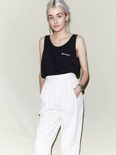 Vintage Champion Sports Vest Top, Vintage High Waisted Trousers