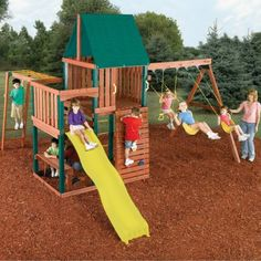 Swing-N-Slide Chesapeake Wood Swing Set