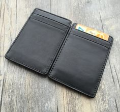 Personalized christmas gifts,magic card holder,business card cases,handmade,Genuine leather wallet,Christmas gifts for him,unique gifts by OnlyOneGift on Etsy