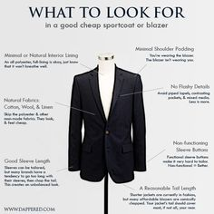 what to look for in a cheap blazer by Dappered.com