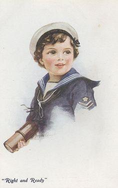 Vintage postcard - Illustration by Joyce Averill
