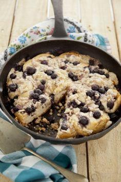 Easy Blueberry Skillet Cake #pauladeen