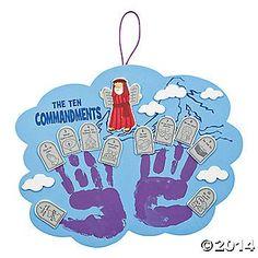 Ten Commandments Handprint Craft Kit (make this ourselves?)
