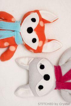 Diy Stuffed Fox - Adorable Diy Stuffed Fox + Pattern #sewing #kids #pattern