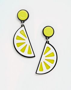 Buy South Beach resin lemon segment earrings at ASOS. With free delivery and return options (Ts&Cs apply), online shopping has never been so easy. Get the latest trends with ASOS now. South Beach, Ariana Grande Songs, Asos, Pineapple Earrings, Floral Hoops, Hair Rings, Shell Jewelry, Statement Jewelry, Resin