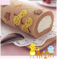 Patterned Cake Rolls