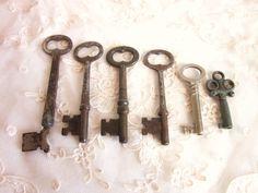 Vintage Skeleton Keys Antique Steampunk Set