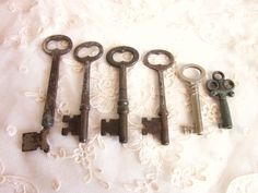 Vintage Skeleton Keys Antique Steampunk Set