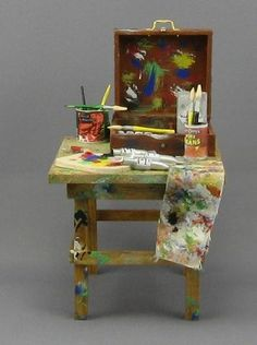 miniature painting table