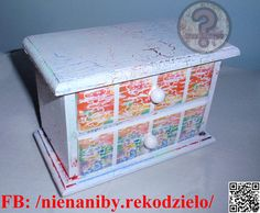 Small colorful decoupage commode by NieNaNiby