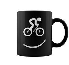 cycling smile mug – Best T-Shirts USA Cycling Quotes, Cycling Art, Mountain Bicycle, Mountain Biking, Bmx, Travel Coffee Cup, Customised Mugs, Creative Coffee, Bicycle Shop