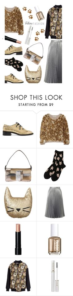 """Feline Fashion'"" by dianefantasy ❤ liked on Polyvore featuring Proenza Schouler, Burberry, Fendi, PBteen, Miss Selfridge, Bobbi Brown Cosmetics, Essie, STELLA McCARTNEY, Lancôme and polyvorecommunity"