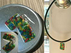 Picture of Doodle Earrings (Jewelry Charms) by Recycling #6 plastic (Make your own shrinky dinks!)