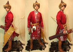 10 century hungarian from Nikita Bolbikov Military Costumes, Early Middle Ages, Medieval Knight, Folk Dance, Renaissance Fair, Dark Ages, Historical Costume, Archery, Denmark