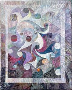 Ode to Obsession: Opals, Aggies and Immies - Judy Dales, nationally known quilt maker is famous for the curves in her work.