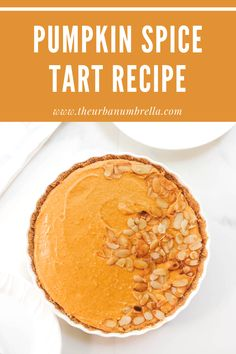 This No-Bake Pumpkin Spice Tart Recipe combines all the best flavors of fall – rich pumpkin, warm cinnamon, and sweet vanilla. Made with an easy and delicious no-bake crust, this Pumpkin Tart recipe is perfect for those who are looking for a delicious and fast dessert recipe to whip up. Fast Dessert Recipes, Tart Recipes, Delicious Desserts, Yummy Food, Pumpkin Tarts, Baked Pumpkin, Pumpkin Spice, Fresh Pumpkin Recipes, Homemade Desserts