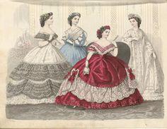 Allgemeine Moden-Zeitung, 1862. University of Dusseldorf.  Civil War Era Fashion Plate