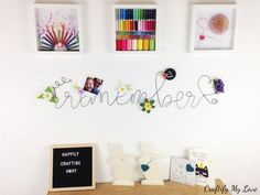 How to Make a Bent Wire Memo Board | Craftify My Love