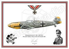 Me- Bf 109 E-4 di Adolf Galland