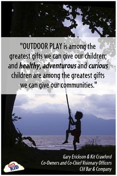 Inspire outdoor play every day and discover new adventures. #CLIFKid #client