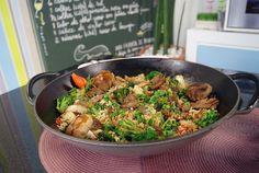 Arroz Oriental com Carne | Receitas | Dia Dia
