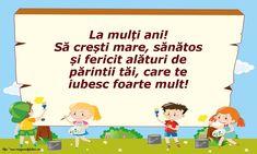 La mulți ani! Kindergarten Worksheets, Worksheets For Kids, Learn English Kid, Learning English, Kids Poems, Kindergarten Learning, Good Company, Parenting, Decoupage