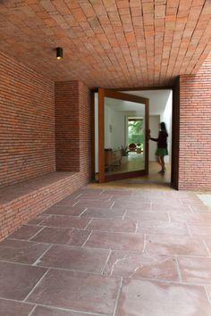 Brick Architecture, Architecture Details, Interior Architecture, Z Brick, Brick Facade, Dorset Street, Entrance Design, Porch Entrance, Brick Detail