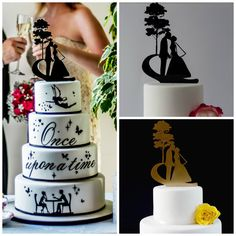 Kissing Couple Cake Topper. The perfect cake by yourperfectfinish