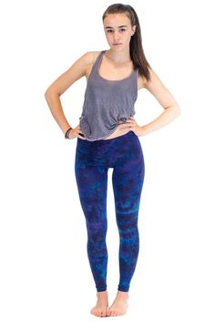 These Blue Purple Mix Women's Tie Dye Leggings are perfect for you if you like yoga, festivals, or Tie Dye in general! Each pair of Tie Dye Leggings are individ Tie Dye Leggings, Purple, Blue, Comfy, Fabric, Cotton, Pants, Collection, Fashion
