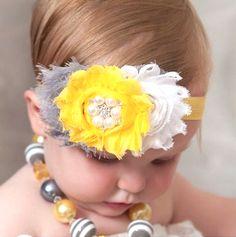Frayed Shabby Flower Headband with Pearls www.hipsterrow.com