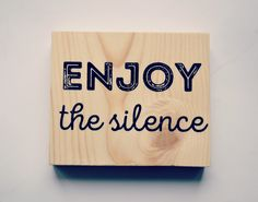 Enjoy The Silence wooden sign/Inspired By The Song Of Depeche Mode/Wooden Poster/ Musical Sign/ Wall Art/Bar Decor/Bitrhday Gift/Home Decor