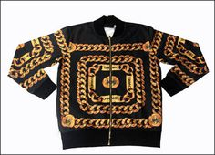 Gold Chain Print Jacket - Epic Mob Clothing