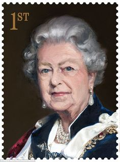 A Nicky Philipps portrait was chosen for the 1st Class stamp, specially commissioned by the Royal Mail