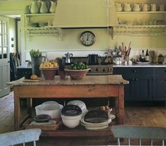 Farmhouse Kitchen Decor Ideas: Great Home Improvement Tips You Should Know! You need to have some knowledge of what to look for and expect from a home improvement job. Farmhouse Kitchen Cabinets, Kitchen Pantry, New Kitchen, Vintage Kitchen, Kitchen Dining, Kitchen Decor, Vintage Table, Cozy Kitchen, French Kitchen