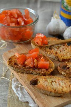 Pan con tomate - Toast de pain à la tomate Recette tapas