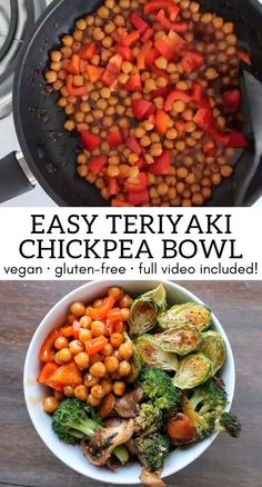Vegetarian Recipes For Beginners, High Protein Vegetarian Recipes, Vegan Recipes Videos, Vegan Recipes Easy, Raw Food Recipes, Veggie Recipes, Healthy Chickpea Recipes, Natural Food Recipes, Recipes With Chickpeas