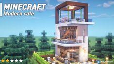 Minecraft Modern Mansion, Easy Minecraft Houses, Minecraft House Tutorials, Minecraft City, Minecraft Plans, Minecraft House Designs, Minecraft Decorations, Minecraft Construction, Amazing Minecraft
