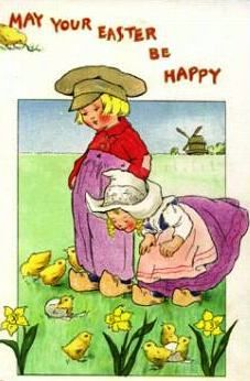 Dutch Easter Postcard