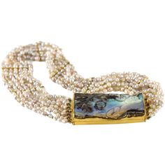 Opal Pearl and 24-Karat Gold Choker by Harry Fireside  -- found at www.rubylane.com #vintagebeginshere