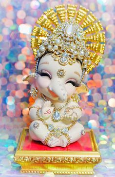 Shri Ganesh Images, Ganesha Pictures, Lord Krishna Images, Ganesh Chaturthi Decoration, Happy Ganesh Chaturthi Images, Baby Ganesha, Baby Krishna, Lord Ganesha Paintings, Lord Shiva Painting
