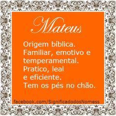 Significado do nome Mateus