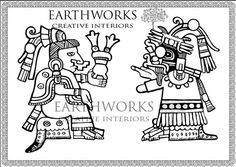Adult Coloring Book Pagemayan art colouring by Earthworkinteriors